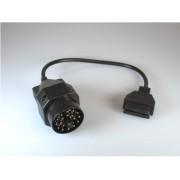 OBD 2 Adapter passend für BMW Fahrzeuge mit rundem 20 Pin Stecker
