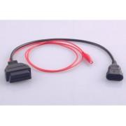 OBD 2 Adapter passend für Fiat Fahrzeuge mit OBD1 3 Pin Stecker