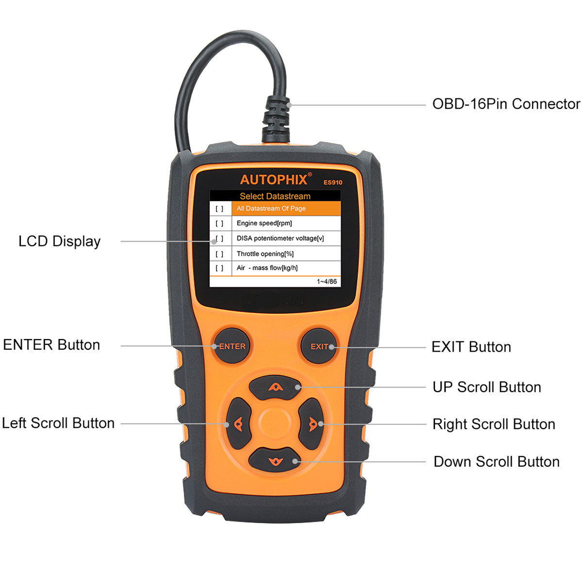 Details zu ES910 OBD Tiefendiagnose für BMW X5 Serie E70, ABS, Airbag, ECU,  SI Reset