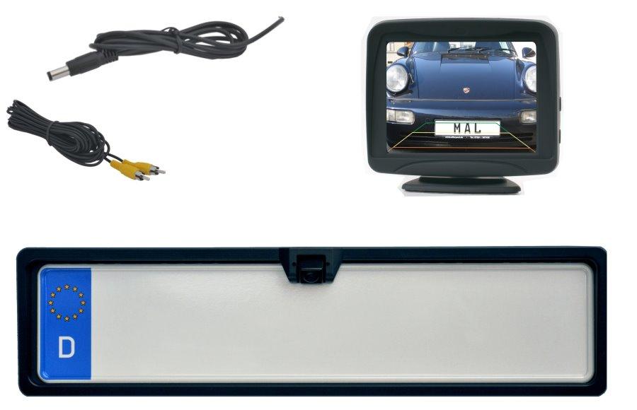 kfz kennzeichenhalter mit integrierter r ckfahrkamera 3. Black Bedroom Furniture Sets. Home Design Ideas